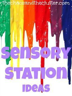Frog Sensory Bin, Pumpkin Puffy Paint, Rainbow Soap Foam, and Calming Lavender Sensory Bin