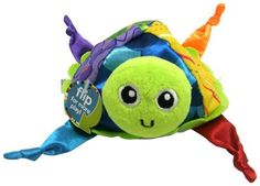 Lamaze Developmental Toy, Flip Flop Fred by TOMY. $8.32. From the Manufacturer                Flip Flop Fred is perfect for peek-a-boo play with baby!  High contrast patterns stimulate baby's vision while crinkle awakens auditory awareness.  Colorful ribbons engage baby's touch.  Includes a loop- attach a link for on-the-go play                                    Product Description                Flip Flop Fred is perfect for peek-a-boo play with baby!  High con...
