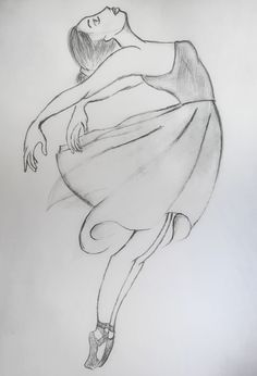 Learn easily how to draw dancing girl Girl Drawing Sketches, Girly Drawings, Art Drawings Sketches Simple, Pencil Art Drawings, Easy Sketches To Draw, Sketch Art, Drawing Art, Ballet Drawings, Dancing Drawings