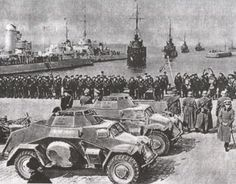German warships in the port of Klaipėda (Memel), Lithuania, the day after the ultimatum was accepted - 22 March 1939.
