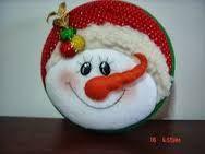 Resultado de imagen para MOGOLLAS DE NAVIDAD PASO A PASO Christmas Ornaments To Make, Christmas Fabric, Christmas Deco, Felt Ornaments, Christmas Projects, Xmas, Snowman Faces, Snowman Crafts, Fabric Decor
