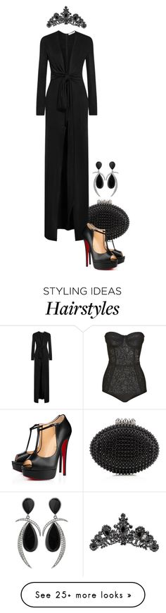 """'Pirelli Calendar' 2016."" by foreverforbiddenromancefashion on Polyvore featuring Christian Louboutin, Givenchy and Swarovski"
