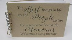 'the Best Things In Life'' Scrapbook Memory Book Album Gift Keepsake Present Gift - 1st Anniversary Gifts For Him, Wedding Anniversary, Good Presents For Dad, Scrapbook Cover, 70th Birthday, Birthday Ideas, Books For Moms, This Is Your Life, Birthday Scrapbook