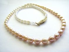 Gift For MOM, Freshwater Pearl Necklace, Pink Peach Ivory, Large Single Pearl Strand, 14k Gold Filled, 25% OFF, Ready To Gift Box For Mum