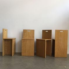 Image of Donald Judd Style Chairs - Set of 4