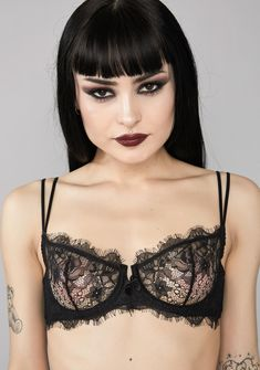 417e9320b42e Free, fast shipping on Sweet Seclusion Lace Bra at Dolls Kill, an online  boutique