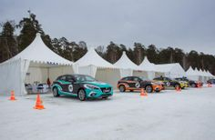 #Mazda3 at the Mazda Ice Race 2014 in Siberia.  Excellent color schemes! http://flanaganmotors.com