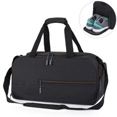 MarsBro Gym Bag Sports Holdall Travel Weekender Duffel Bag with Shoe  Compartment for Men and Women f67d392e6d