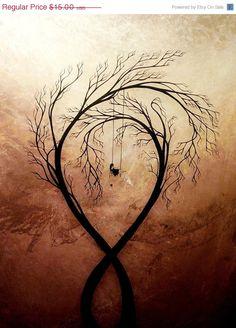 WEEKEND SALE - Heartache and Poetry 2 by Jaime Best - Modern Landscape Print. $7.50, via Etsy.
