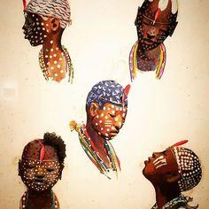Exposição Carybé - Iaôs de Oxumaré, Ogum, Oxossi e Oxum #oxum #candomblé…