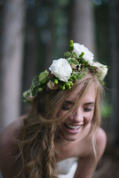 Boho bride. Floral crown.