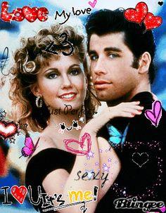 Sandy Olsen & Danny Zuko The Movie: Grease The Actors: Olivia Newton John & John Travolta Olivia Newton John Grease, John Newton, Danny Zuko, John Travolta, Grease 1978, Grease Movie, Musical Grease, Film Musical, Vintage Movies