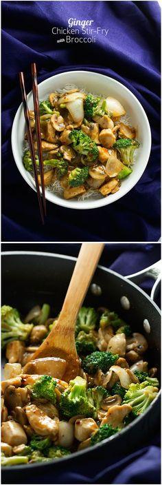 Ginger Chicken Stir-Fry with Broccoli