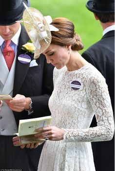 Catherine, Duchess of Cambridge attends day 2 of Royal Ascot at Ascot Racecourse on June 8, 2016 in Ascot, England.