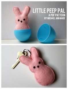 rainbowsandunicornscrafts:    DIY Felt Peeps. So easy and inexpensive to make. I'd love a whole bunch in peep-like colors in a big Easter basket. Tutorial at Michael Ann Made Me here.    What can I say, I have a thing for peeps.