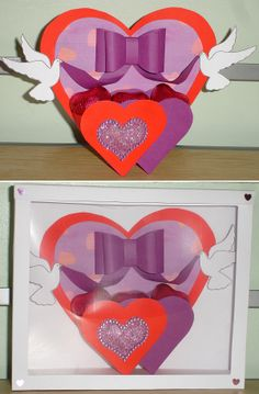 """""""Love Birds"""" Valentine's Day card by Helene Taylor, using a card making template from Card Carousel. Card Making Templates, 3d Cards, Love Birds, Carousel, Making Ideas, Cardmaking, Valentines Day, Gallery, Crates"""