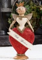 Valentine's Day Queen of Hearts My Funny Valentine, Saint Valentine, Valentine Day Love, Vintage Valentines, Valentine Crafts, Holiday Crafts, Paperclay, Valentines Day Decorations, Beautiful Dolls