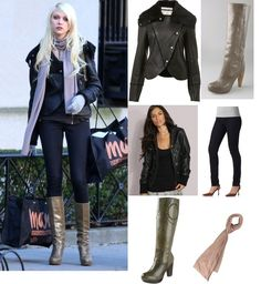 Jenny Humphrey leather jacket