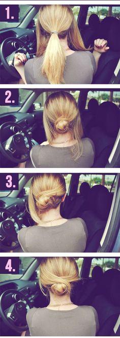 #tutorial #hairstayle #bun #chic #diy #diybazaar