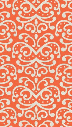 オレンジパターン iPhone5 壁紙