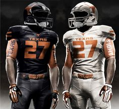 13 Texas Longhorn Football uniform concept designs (that will never happen).