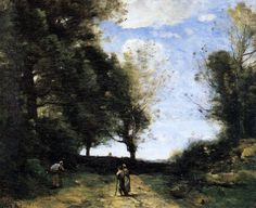 View Paysage aux trois personnages by Jean-Baptiste-Camille Corot on artnet. Browse upcoming and past auction lots by Jean-Baptiste-Camille Corot. Cool Landscapes, Landscape Paintings, Oil Paintings, Barbizon School, Modern Words, Italian Paintings, Jean Baptiste, Art Database, French Art