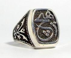 925 STERLING SILVER MEN'S ISLAMIC RING #Handmade #islamic