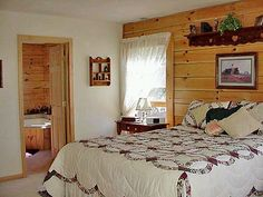 Log Cabin Bedrooms | Remember, cLogick on any of these smaLogLog Log home bedroom images ...