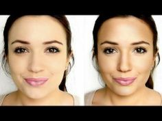 how to contour your face, she only uses highlighter,bronzer, and blush.