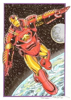 Iron Man Space Suit Commission by Bob Layton, in shaun clancy's Commissions Comic Art Gallery Room Comic Books Art, Comic Art, Book Art, Empire Characters, Fictional Characters, Goku, Space Armor, Dr Octopus, Space Knight