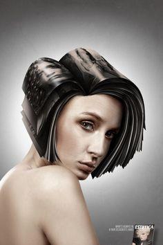 hair paper designer's.... #photomanipulation