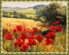 Rosenstiel's - Supplier of fine art prints and posters to trade Watercolor Landscape, Landscape Art, Landscape Paintings, Watercolor Art, Paintings I Love, Original Paintings, Flowers Nature, Pictures To Paint, Red Poppies