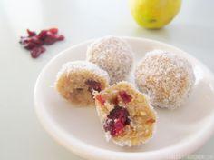 Lemon cranberry 'cheesecake' bites