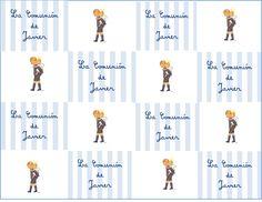 comunión niño con su recordatorio de paperprints