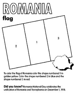 Ukraine Flag Coloring Page