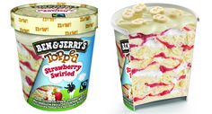 """Delectable """"topped strawberry swirled"""" flavor Ben & Jerry's, available in Order yours now! Ben Et Jerrys, Ice Cream Flavors List, Fudge Ice Cream, Chex Mix, Mint Chocolate Chips, Nice Cream, Food Goals, Ben And Jerrys Ice Cream, Aesthetic Food"""
