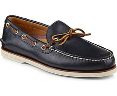 Men - Gold Cup Authentic Original 1-Eye Boat Shoe - Navy | Sperry