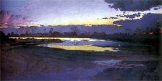 Józef Mehoffer (Polish, 1869-1946), Vistula River near Niepołomice. 1894, Friends of Fine Arts Society, Krakow.