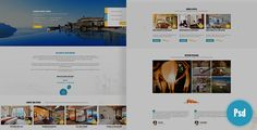 Leevio & Resort, Hotel, Travel PSD Template