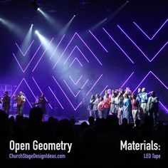 Open Geometry from Grace Community Church in Fremont, Ohio|Church Stage Design Ideas