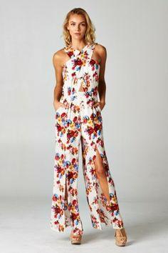 •#salediem #fashion #bottoms  #rompers #jumpsuits Floral Print Jumpsuit