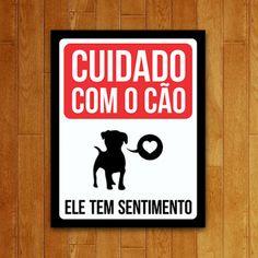 Placa Decorativa - Cão Com Sentimento Baby Dogs, Pet Dogs, Dog Cat, Cut Animals, Animals And Pets, Cute Love, Pet Shop, Cute Wallpapers, Pugs