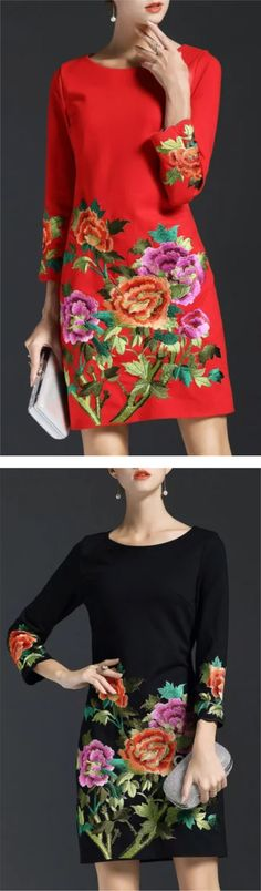 Red floral skater FESTIVAL HOLIDAY dress size 10 size 12 size 14