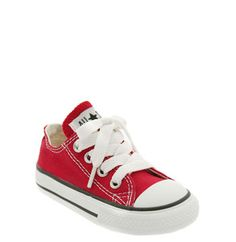 Converse Chuck Taylor® Low Top Sneaker (Baby, Walker & Toddler) available at - pink of course Baby Converse, Toddler Converse, Red Converse, Toddler Shoes, Stylish Little Boys, Little Man Style, Little Boy Fashion, Baby Boy Fashion, Baskets