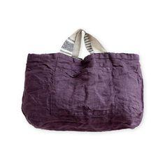 リバーシブルバッグ フロウ _ ブラック&ヴィンテージグレープの通販。リネン(麻)素材のリーノエリーナのバッグはリバーシブルなので、コーディネートも楽しめます。
