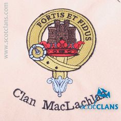 Clan MacLachlan Custom Embroidery @ScotClans. Free worldwide shipping available