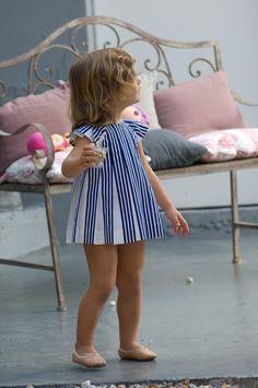 stripes + lil ballet shoes
