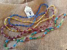 $5.00 Necklace made form recycled magazines! All jewelry proceeds fund education for kids in Uganda, Africa. Ekisa Paper Bead Thin Necklace from Uganda by EkisaPaperBeads, $5.00