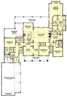 bridgefield house plan - One Story Farmhouse Plans