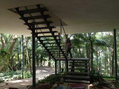escada, casa de vidro, são paulo, lina bo bardi, 1951